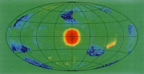 Карта неба в аннигиляционном излучении электрон-позитронных пар
